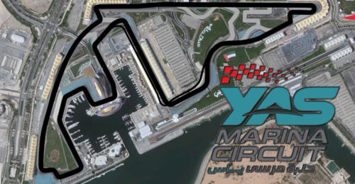 Yas Marina Circuit Satellite Map With Track Outline