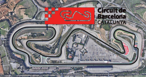 Circuit De Catalunya Satellite Map With Track Outline