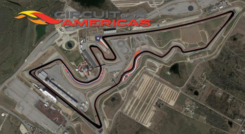 Circuit of the Americas Satellite Map With Track Outline