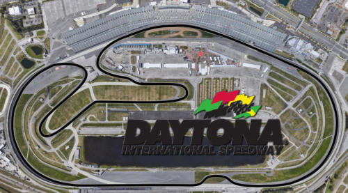 Daytona  International Raceway Satellite Map With Track Outline
