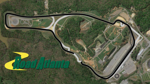 Road Atlanta Satellite Map With Track Outline