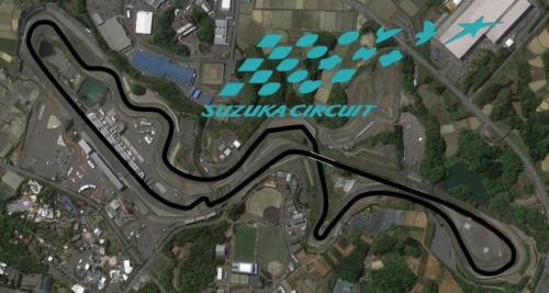 Suzuka Circuit Satellite Map With Track Outline