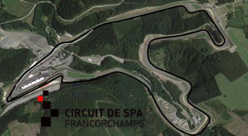 Circuit De Spas-Francorchamps Satellite Map With Track Outline
