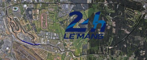 Circuit de la Sarthe Le Mans Satellite Map With Track Outline