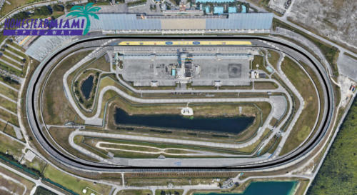 Homestead - Miami Satellite Map With Track Outline