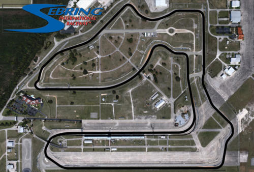 Sebring International Raceway Satellite Map With Track Outline