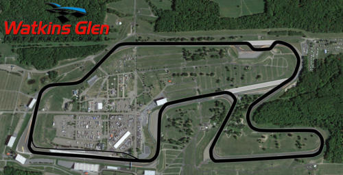 Watkins Glen Satellite Map With Track Outline