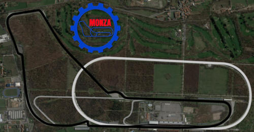 Autodromo Nazionale Monza Satellite Map With Track Outline