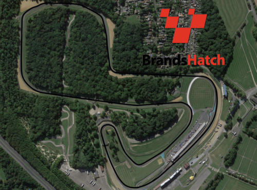 Brands Hatch Satellite Map With Track Outline