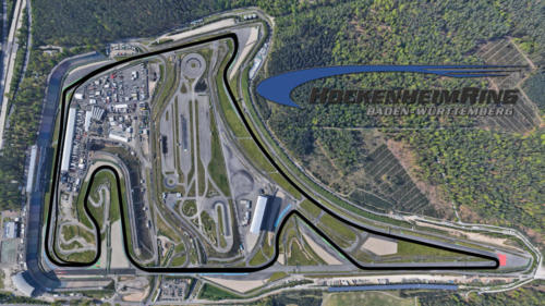 Hockenheim Satellite Map With Track Outline