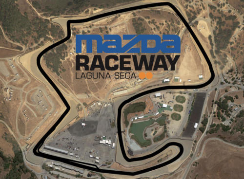 Mazda Raceway Leguna Seca Satellite Map With Track Outline