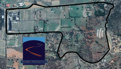 Mount Panorama Circuit Bathurst Satellite Map With Track Outline