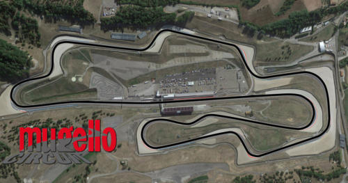 Mugello Autodromo Internazionale Satellite Map With Track Outline