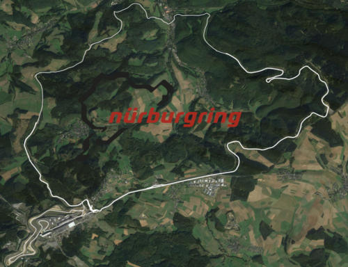 Nurburgring Satellite Map With Track Outline