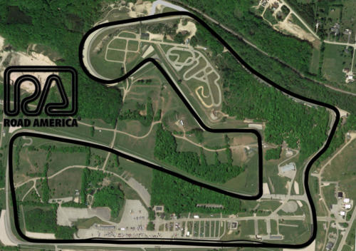 Road America Satellite Map With Track Outline