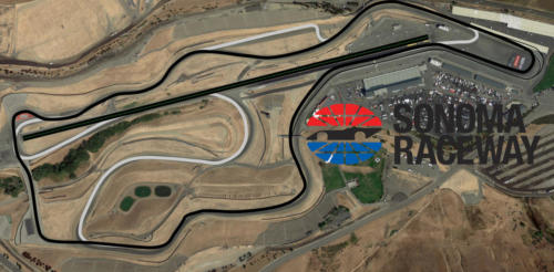 Sonoma Raceway Satellite Map With Track Outline
