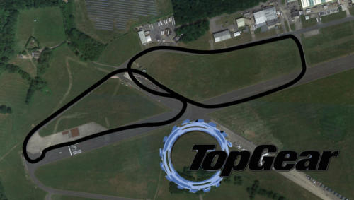 Top Gear Test Track Satellite Map With Track Outline